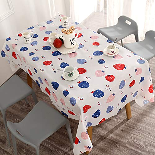 LIUJIU Tablecloth, Cotton Linen Rectangle Tablecloths, Geometric Style Wrinkle Free Anti-Fading Table Cloth, Dust-Proof Washable Table Cover for Kitchen Dinning Tabletop,137x90cm