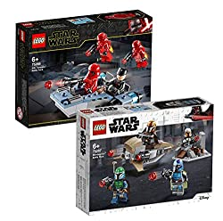 Lego Star Wars Battle Pack Set: 75266 Sith Troopers Battle Pack 75267 Mandalorian Battle Pack