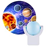 Projectables LED Space Night Light Projector, Dusk-to-Dawn Sensor, Auto On/Off, Projects Image...
