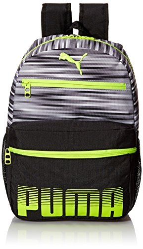 PUMA Boys' Little Backpack, Gray/Yellow, Youth