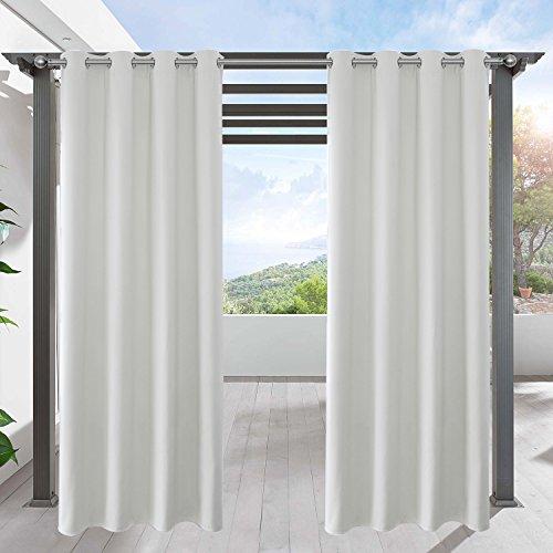 LIFONDER Verdunkelungsvorhänge für Terrasse und Außenbereich, solide Vorhänge für Terrasse, Pavillon, Pergola, Cabana mit Ösen, 1 Panel 52