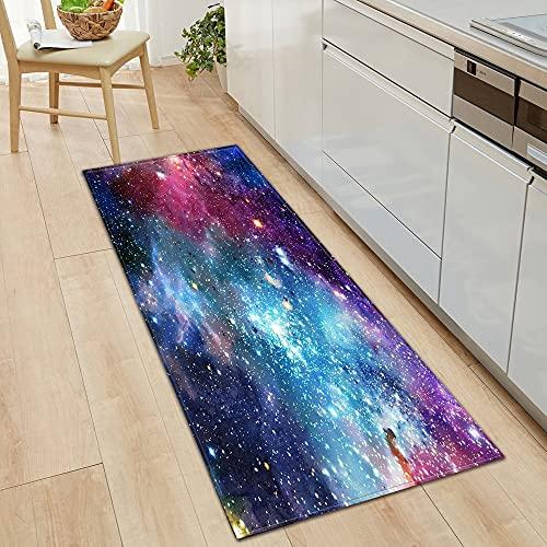 OPLJ Alfombra de piso de cocina para puerta de dormitorio, pasillo, decoración de sala de estar, baño, alfombra antideslizante A15, 60 x 180 cm
