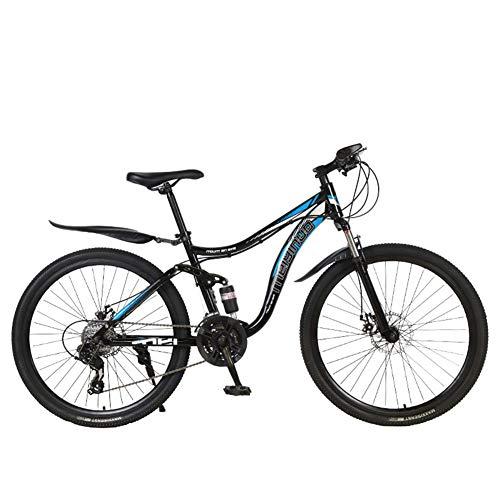 ZCPDP Mountain Bike 26 Pollici in Acciaio ad Alto tenore di Carbonio Pieghevole Fuoristrada Full Suspension Gear Doppio Freno a Disco Mountain Bike