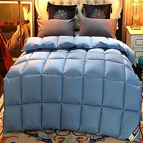 FTFTO Household Products Fashion white goose down cotton quilt warm in winter double bed/normal double bed good moisture absorption and breathability bedding Blue 86.6 * 94.4in11lb