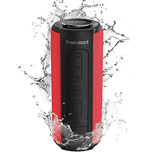 Tronsmart T6 Plus Altavoces Bluetooth 40W, Altavoz Portatiles Waterproof IPX6 con Powerbank, 15 Horas de Reproducción, Sonido Estéreo TWS, Efecto de Triple Bajo, Speaker Bluetooth 5.0