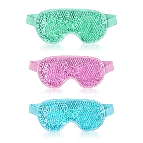 3pcs Máscara de ojo de hielo, Máscara de ojos de gel de...