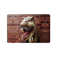面白い恐竜は壁の玄関マットを通してクローズアップ滑り止めエントランスマットフロアラグ屋内/屋外/正面玄関マット家の装飾,40x60 cm