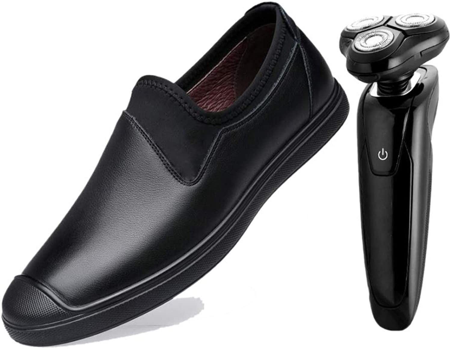 Lightweight Men Did Not Close Business Casual shoes Brown Black Predective Soft Leather Driving Adults