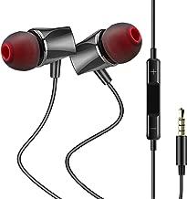 Auricolari in-ear con Microfono e Controllo del Volume, AGPTEK Cuffie con Cavo e Jack da 3,5mm per iPhone, Samsung, Huawei ed Altri Smartphone, Nero