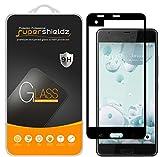 (2 Pack) Supershieldz Designed for HTC U Ultra Tempered Glass Screen Protector, (Full Screen Coverage) 0.33mm, Anti Scratch, Bubble Free (Black)