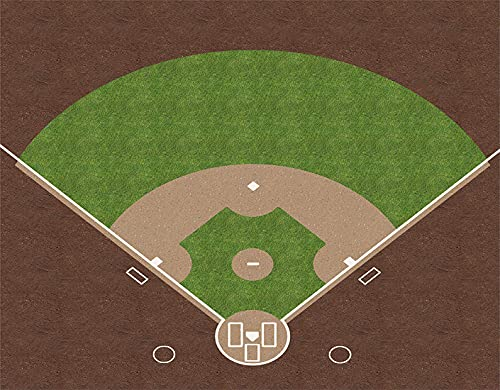 HASENCIV DIY 5D Diamond Painting American Baseball Field with White Markings Painted on Grass Full Drill Crystal Rhinestone Kits 40x50cm Embroidery Paintings Pictures for Home Wall Decor