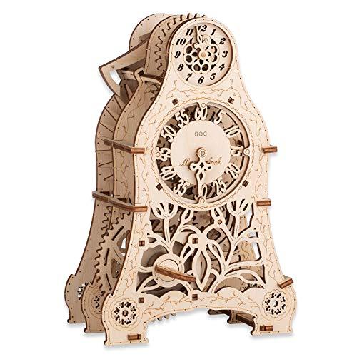 CANOPUS 3D Puzzle hölzerne Uhr, Houten Puzzle Kit - Geschenk für Erwachsene und Kinder, 3D-Puzzle-Modell Lernspielzeug, Kreatives Spielzeug, 3D holzpuzzle Uhr, 3D Wooden Magic Clock