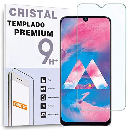 REY Protector de Pantalla para Samsung Galaxy M30 - A50 - A30 - A20 - A50s - A30s - M30s - M21 - M31 - M32, Cristal Vidrio Templado Premium