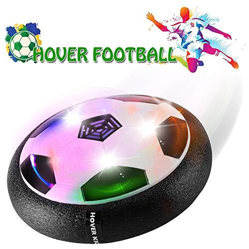 BULUGOU Air Power Fußball - Baztoy Hover Power Ball Indoor Fußball mit LED Beleuchtung, Perfekt Zum Spielen in Innenräumen ohne Möbel Oder Wände zu beschädigen(Ohne Batterie)
