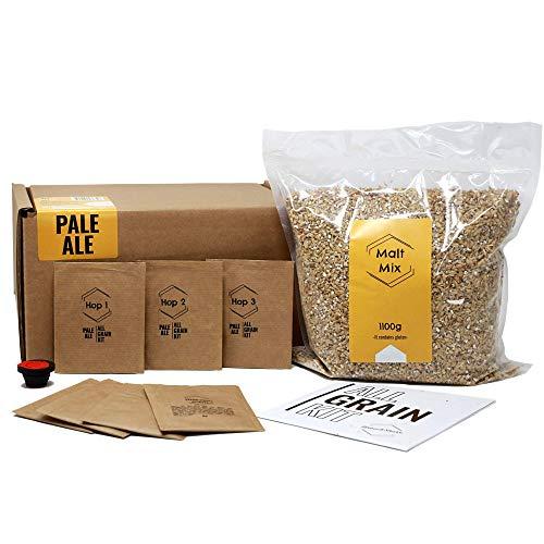 BNKR BEER Brew&Share Nachfüllpack für Bier Pale Ale | Ihr Bier in 2 Wochen | Herstellung mit Malz und Hopfen