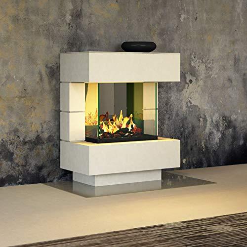 Muenkel design London 750 – Chimenea eléctrica (Opti-myst): color a elegir según RAL, con calefacción, bandeja de…