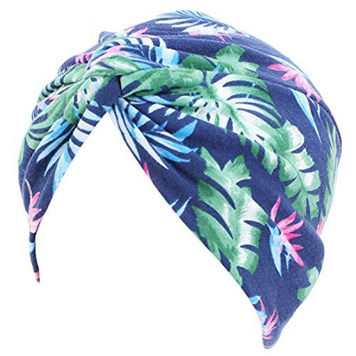 mingsheng Muslim Headscarf - Gorro para mujer, estilo étnico, bohemio, turbante