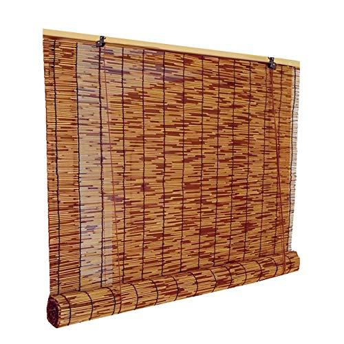 LBYDXD Persianas Enrollables De Bambú Retro Natural, Sombreado y Transpirable, Decoración Interior/Exterio, con Accesorios De Instalación, Cortinas Opacas con Polea