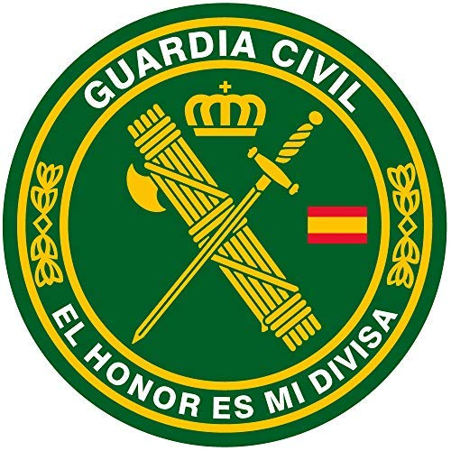 Artimagen Pegatina círculo Guardia Civil El Honor es mi divisa ø 50 mm/ud.