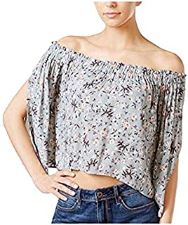 ASTR The Label Off Shoulder Floral Crop Top For Women