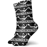 Dydan Tne Conquer Pose Gym Lifting Socks, Calcetines de Vestir Funny Socks Crazy Socks Casual Crew Socks