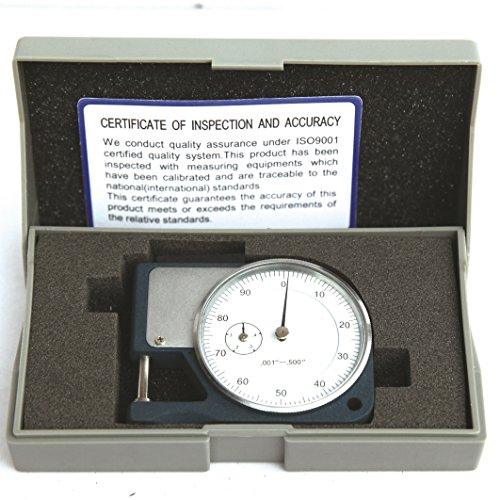 HFS (R) Thickness GAGE DIAL Micrometer Caliper Scope Sheet Paper (0.5'x0.001' Mechanical)