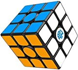 Gan 356 Air SM Magnetic Speed Cube, 3x3 Stickers Magic Cube, Gans 356 Air S M 3by3 Speed Cube 3x3x3 Puzzle Toy Black (2019 Edition)
