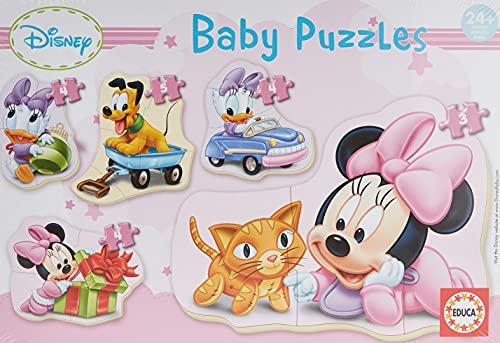 Educa - Baby Minnie Mouse 5 Puzzles Orogresivos de 3 a 5 Piezas, Multicolor (15612)