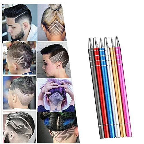 QiQizhang Talla De Afeitar El Pelo Cuchillas Pluma, Tatuaje del Pelo De La Pluma De Afeitar, For Refinado del Pelo/Cejas/Barbas Styling (Size : Black)