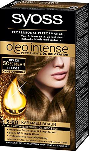 Syoss Oleo Intense Coloration 5-60 Karamellbraun, 3er Pack (3 x 115 ml)