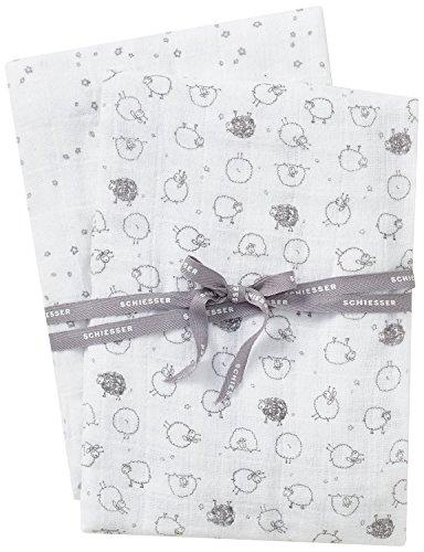 Schiesser Baby-Jungen Schmusetücher Unterwäsche-Set, Mehrfarbig (sortiert 1 901), One size (Herstellergröße: 001) (2er Pack)