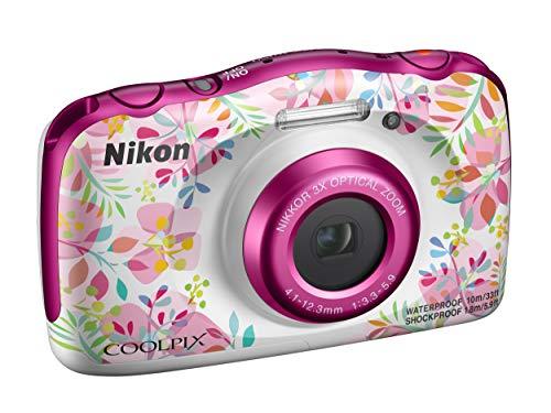 Nikon Coolpix W150 Fotocamera Digitale Compatta, 13.2 Megapixel, LCD 3', Full HD, Impermeabile, Resistente agli Urti, alle Basse Temperature e alla Polvere, Flowers [Nital Card: 4 Anni di Garanzia]