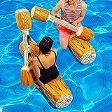 4 piezas de paquete inflable de agua flotantes juguetes de combate ventilado Logas de cubierta de cama flotante Silla de cubierta gigante Flotador para piscina Playa Playa Piscina Juguetes para a