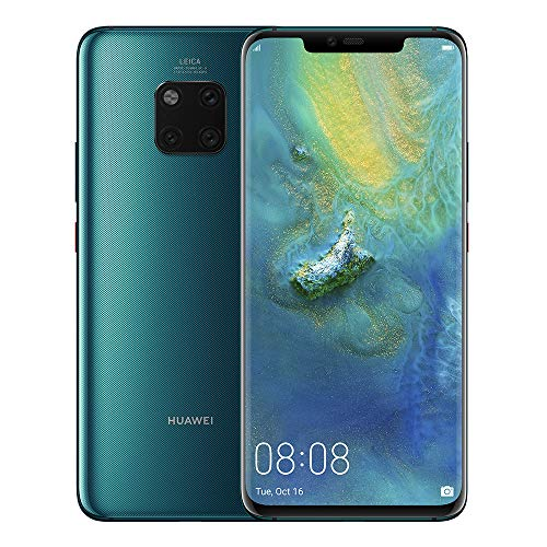 Huawei Mate 20 Pro (128GB, 6GB RAM) 6.39' Display, Leica Triple Camera, in-Screen Fingerprint, Global 4G LTE Dual SIM GSM Factory Unlocked LYA-L29 - International Model (Emerald Green)