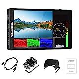 Feelworld F7 Pro Monitor de Campo de cámara DSLR con Pantalla táctil de 7 Pulgadas con Forma de Onda Kit de alimentación F970 3D lut HDR 1920x1200 IPS 4K 60Hz HDMI Salida de Entrada