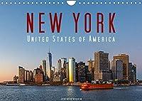 New York - United States of America (Wandkalender 2022 DIN A4 quer): 12 New Yorker Highlights in brillanten Bildern (Monatskalender, 14 Seiten )