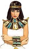 shoperama Collar Egipto para Egipto Kleopatra Faraonina Accesorios de Disfraces