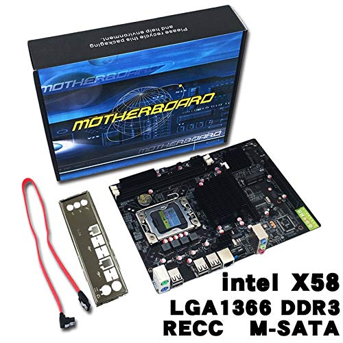 Professional Desktop Computer Mainboard X58 Board LGA 1366 Pin ECC All Solid Motherboard Support L/E5520 X5650