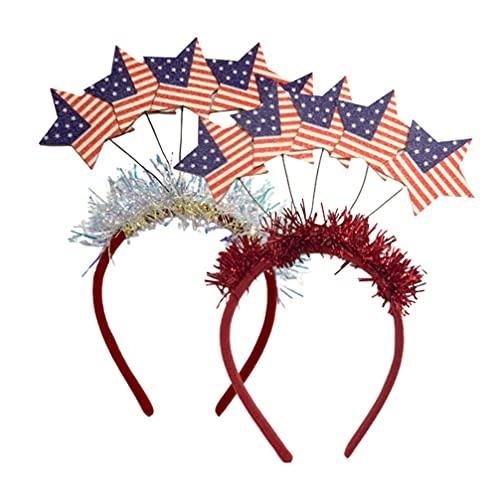 FOMIYES Aro para el pelo con bandera patritica americana para el da de la independencia del 4 de julio de la independencia, disfraz de fiesta para el da del trabajo