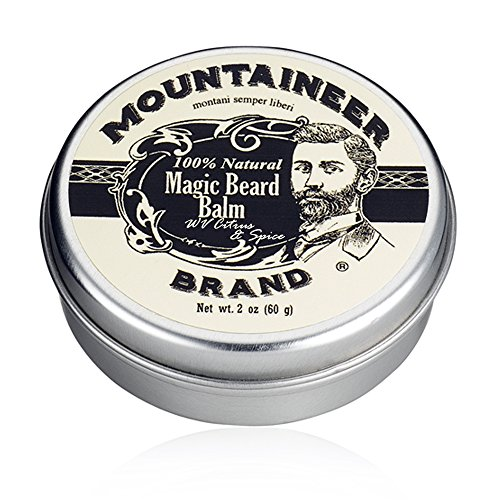 magic beard oils Magic Beard Balm Leave-in Conditioner by Mountaineer Band | Natural Oils, Shea Butter, Beeswax Nourishing Ingredients | 2-oz Citrus & Spice Scent