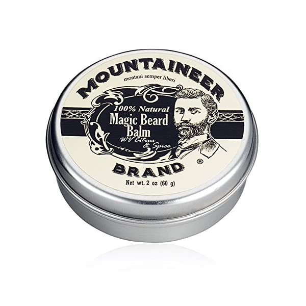 Magic Beard Balm Leave-in Conditioner by Mountaineer Band   Natural Oils, Shea Butter, Beeswax Nourishing Ingredients… 1
