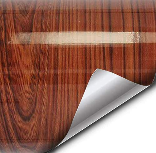 Vvivid High Gloss Red Cedar Striped Wood Grain Faux Finish Textured Vinyl Wrap Contact Paper Film For Home Office Furniture Diy No Mess Easy To Install Air Release Adhesive 5ft X 48 Amazon Ca