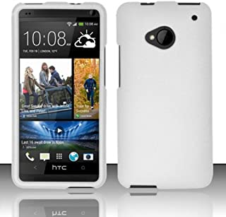 Importer520 Rubberized Snap-On Hard Skin Protector Case Cover for For (AT&T/T-Mobile/Sprint) HTC One M7 - White
