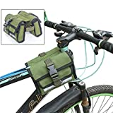 ELECTROPRIME Army Green MTB Bike Tube Saddle Bag Bicycle Front Frame Double Side