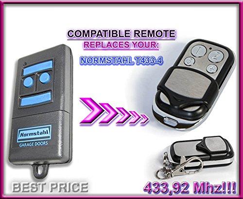 Normstahl T433–44-Kanal-kompatible Fernbedienung, Ersatz Transmitter, 433,92MHz Rolling Code Schlüsselanhänger