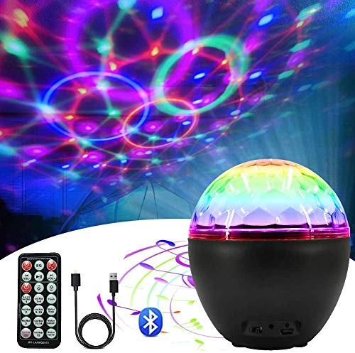 Outry Disco Ball Lights, 16 Colors Party Lights, LED Strobe Light with Bluetooth Speaker and Remote Control, Dj Lights Stage Light for Home KTV Party Birthday Wedding Club Dance Show