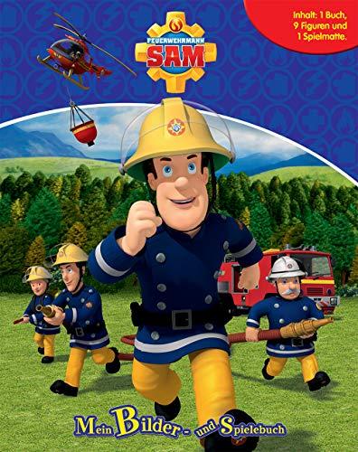 Feuerwehrmann Sam. Spiel- u. Beschäftigungsbuch: Inhalt: 1 Buch, 10 Figuren, 1 Spielmatte: Inhalt: 1 Buch, 12 Figuren, 1 Spielmatte