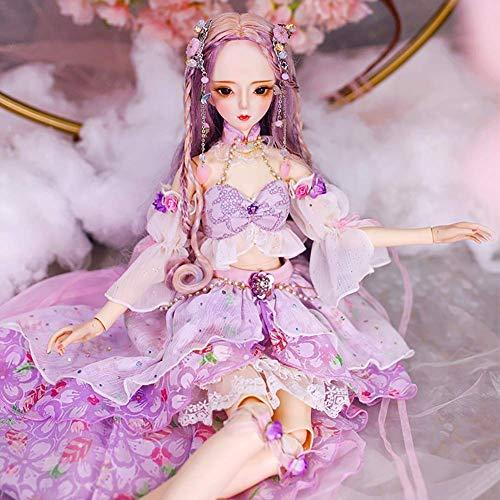 Anabei Muñeca de vestir grande de 60 cm muñeca bjd muñeca de vinilo sd muñeca
