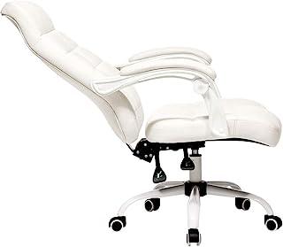 Ergonomiczne Krzesło Dodatkowe Wyściełane Krzesło Biurowe, Krzesło Wykonawcze Z Wysokim Oparciem Faux Leather Wygodne Rozk...