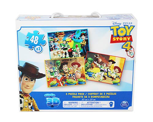 Spin Master- Toy Story 4 Super 3D Puzzle 4-3 PackSuper, Multicolor (6052966)